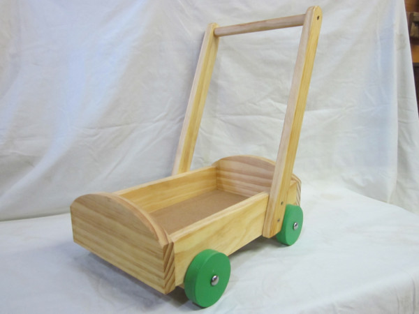 Wooden Push Trolley